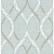 brewster wallcovering symetrie turquoise non woven geometric
