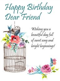 to the sweetest friend happy birthday card a little bird told