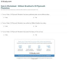 history of plymouth plantation by william bradford quiz worksheet william bradford s of plymouth plantation