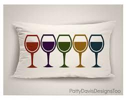 Lumbar Patio Pillows Wine Outdoor Pillow Etsy