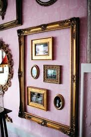 frame collage wall and driftwood mirror mirror with lights cheap