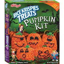 rice crispy treat pumpkins kellogg s rice krispies treats pumpkin kit crafty cooking kits