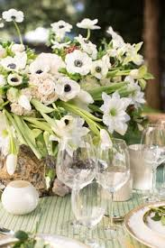 White Floral Arrangements Centerpieces by Elegantly Understated Styled Shoot Inspired By Napa Woodlands