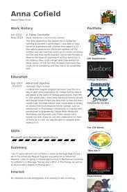 Camp Counselor Resume Sample by Camp Counselor Cv örneği Visualcv özgeçmiş örnekleri Veritabanı