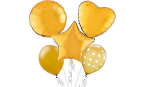 gold balloons foil balloons in solid colors party city