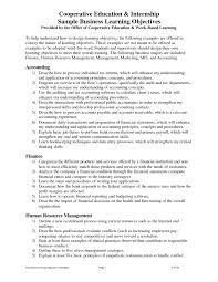 Sample Resume For Internship In Accounting by Objective For Resume Internship Free Resume Example And Writing