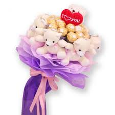 bears delivery cheap teddy gift with bouquet delivery online in