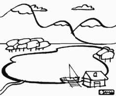 spring landscape coloring pages 4 colouring