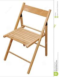 wooden folding chair stock images image 8384894