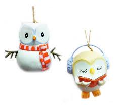 owl christmas owl christmas tree ornaments whimsical owls for your christmas