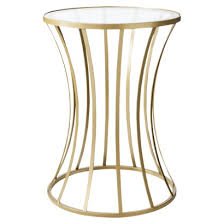 Gold Accent Table Metal And Glass Accent Table Gold Nightstand 22 0 H X 16 0