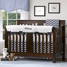 Preppy Crib Bedding Weave With Navy Trim Simple Rail Cover By Liz And Roo Nursery