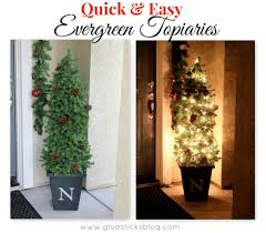 Pre Lit Topiary Easy Evergreen Topiaries Gluesticks