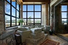Rustic Bathroom Ideas - best rustic cabin bathroom ideas on pinterest log home design 48