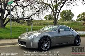 nissan 370z custom rims forgestar f14 wheels for nissan 19in 350z 370z gt r 240sx 300zx