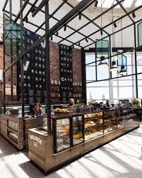 cafetería con estructura metálica cafés y terrazas pinterest