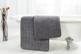 Grey Bathroom Rug by Bricks Memory Foam Bath Mat Chesapeake Merchandising
