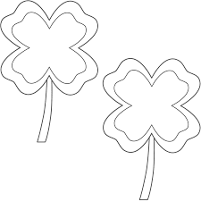 four leaf clovers with border 2 clovers coloring page st