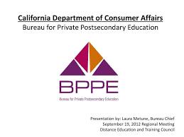 bureau of consumer affairs ppt california department of consumer affairs bureau for