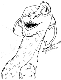 ice age coloring pages getcoloringpages com