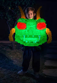 cast a pixelated glowing centipede costume for halloween make