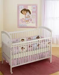 dora the explorer bebe four piece infants crib bedding set