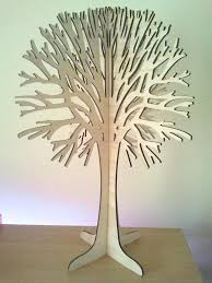 laser cut wooden oak tree