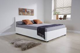 White Ottoman Bed by Arizona White Leather Ottoman Bed Frame U2013 Dublin Beds