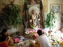 decoration for puja at home muktangan saraswati puja