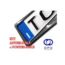porta targa auto kit porta targa auto carbonio anteriore posterior