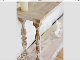 Diy Entry Table by White Washed Sofa Table With Reclaimed Balusters Furniture