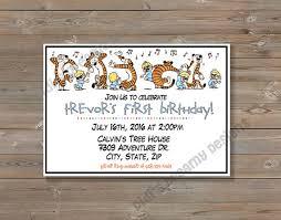calvin u0026 hobbes comic birthday or baby shower invitation and