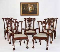 eight mahogany chairs jpg