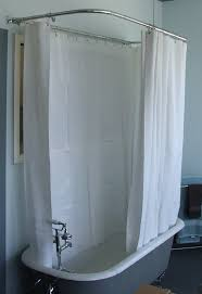 amazon com extra wide vinyl shower curtain for a clawfoot tub