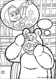 masha bear coloring pages coloring book