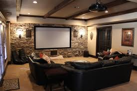 Media Room Sofa Sectionals - stunning basement media room design for media room ideas with