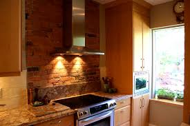 apartments comely brick backsplash kitchen home design ideas
