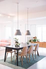 home design muuto modern pendant lighting with wooden dining