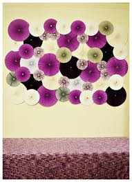 Wedding Flowers Background Paper Wheel Fan Flowers Background Backdrop For Weddings