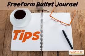 freeform bullet journal tips