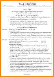 resume summary statements sles sle summary statement for resume