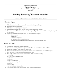 general letter of recommendation for employment cover letter