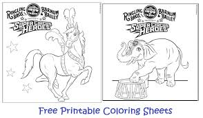 national circus free printable coloring sheets