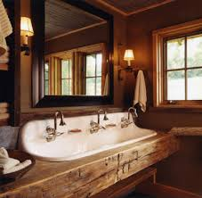 bathroom trough sink double faucet bathroom faucet and bench ideas
