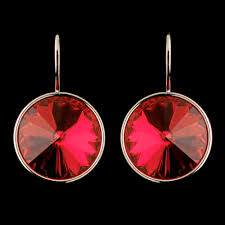 round crystal necklace images Red swarovski element crystal round crystal necklace 9600 jpg