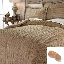 hsn highgate manor 3 piece long faux fur comforter set with eye