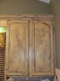 Crackle Paint Kitchen Cabinets Distressed Cabinets These Kitchen Cabinets A Distressed