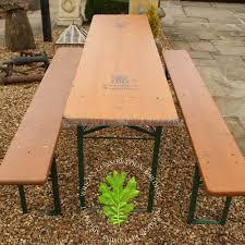 german beer garden table and bench german beer keller table with two benches wilsonsyard com