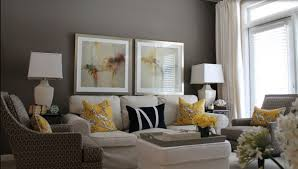home interior stylish very small gray yellow living room design
