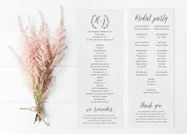 unique wedding programs rustic printable wedding program fall or winter minimalist